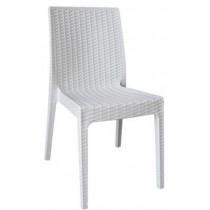 Στοιβαζόμενη πλαστική καρέκλα Areta Dafne Λευκή
