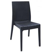 Στοιβαζόμενη πλαστική καρέκλα Areta Dafne Ανθρακί