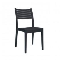Στοιβαζόμενη πλαστική καρέκλα Areta Olimpia Ανθρακί