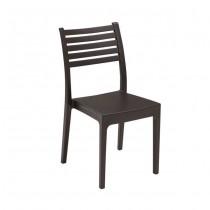 Στοιβαζόμενη πλαστική καρέκλα Areta Olimpia Καφέ