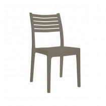 Στοιβαζόμενη πλαστική καρέκλα Areta Olimpia Μπεζ Tortota