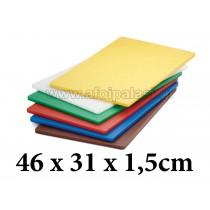 Πλάκα κοπής πολυαιθυλενίου Tablecraft Cutting boards 46x31x1,5cm σε 6 χρώματα