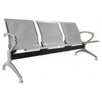 Κάθισμα αναμονής 3 ατόμων με σκελετό χρώμιο Zita E503,01