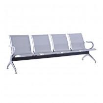 Κάθισμα αναμονής 4 ατόμων με σκελετό χρώμιο
