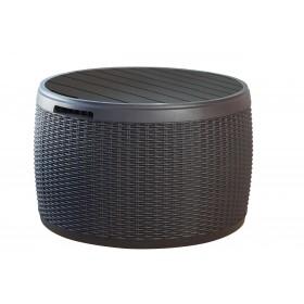Πλαστικό μπαούλο με κάθισμα ενηλίκων έως 140kg Keter Circa 140 Λίτρα