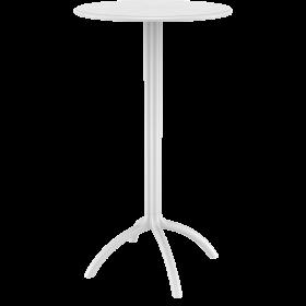 Πλαστικό Τραπέζι σε ύψος Bar Siesta Octopus Bar Ø60cm Λευκό