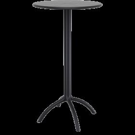 Πλαστικό Τραπέζι σε ύψος Bar Siesta Octopus Bar Ø60cm Μαύρο