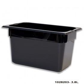 Πλαστικό δοχεία φαγητού Carlisle Top Notch® 1/4GN Black από