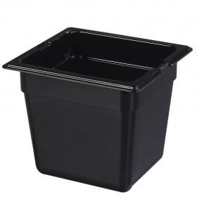 Πλαστικό δοχεία φαγητού Carlisle Top Notch® 1/6GN Black από