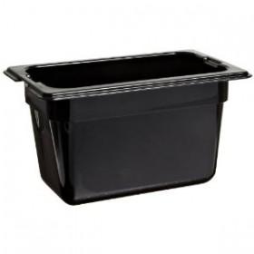 Πλαστικό δοχεία φαγητού Carlisle Top Notch® 1/9GN Black από