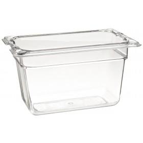 Πλαστικό δοχεία φαγητού Carlisle Top Notch® 1/9GN Clear από