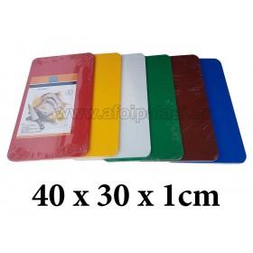 Πλάκα κοπής πολυαιθυλενίου Taurus 40x30x1cm σε 6 χρώματα