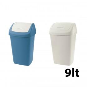 Κάδος απορριμάτων WC Tontarelli Aurora με καπάκι Push 9lt - σε 2 χρώματα