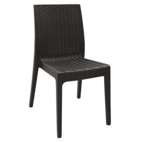 Στοιβαζόμενη πλαστική καρέκλα Areta Dafne Καφέ