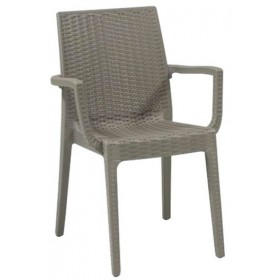 Στοιβαζόμενη πλαστική πολυθρόνα Areta Dafne Μπεζ Tortora