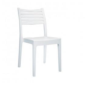 Στοιβαζόμενη πλαστική καρέκλα Areta Olimpia Λευκή