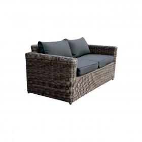 Καναπές Εξωτερικού χώρου διθέσιος Arizona 2Θ Grey/Brown