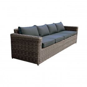 Καναπές Εξωτερικού χώρου τετραθέσιος Arizona 4Θ Grey/Brown