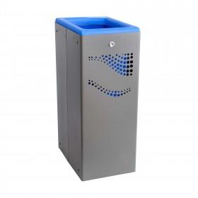 Μεταλλικός κάδος ανακύκλωσης Jofel 40lt AL707050 Μπλε