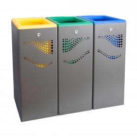 Μεταλλικός κάδος ανακύκλωσης Jofel 120lt AL707050.YGΒ