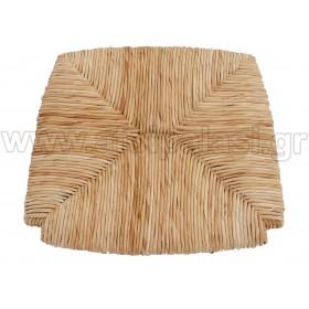 Τετράγωνο κάθισμα τελάρο φυσικής ψάθας 600 - Διάσταση: 39x35cm