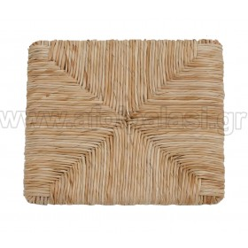 Τετράγωνο κάθισμα τελάρο φυσικής ψάθας 601 - Διάσταση: 37x37cm