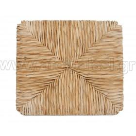 Τετράγωνο κάθισμα τελάρο φυσικής ψάθας 609 με εγκοπές - Διάσταση: 37x37cm