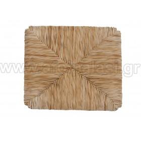 Τετράγωνο κάθισμα τελάρο φυσικής ψάθας 611 με εγκοπές - Διάσταση: 36x36cm