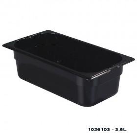 Πλαστικό δοχεία φαγητού Carlisle Top Notch® 1/3GN Black από