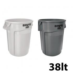 Κάδος απορριμάτων Rubbermaid Brute Round 38lt - σε 2 χρώματα