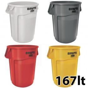 Κάδος απορριμάτων Rubbermaid Brute Round 167lt - σε 4 χρώματα