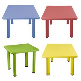 Παιδικό τραπέζι Τετράγωνο σε 4 χρώματα