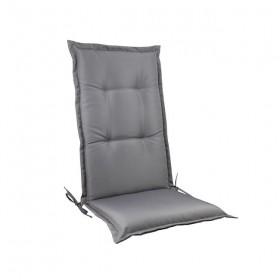 Μονοκόμματο μαξιλάρι Flap για καρέκλα με πλάτη 72cm σε χρώμα Γκρι