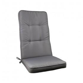 Μονοκόμματο μαξιλάρι Cord για καρέκλα με πλάτη 72cm  σε χρώμα Γκρι