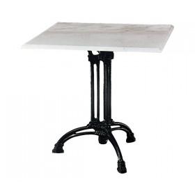 Τραπέζι με Μάρμαρο Τετράγωνο Τρίνυχο 70x70cm