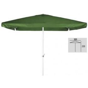 Τετράγωνη ομπρέλα αλουμινίου 3x3m με γρύλο Λευκό