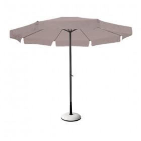 Στρογγυλή ομπρέλα αλουμινίου Ø2m με γρύλο Μπεζ