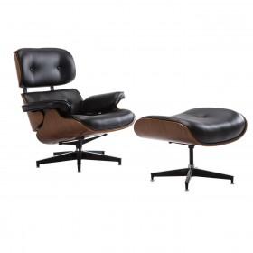 Ρέπλικα της διάσημης πολυθρόνας Eames Lounge Chair Black