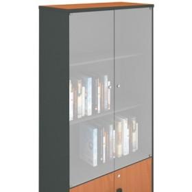 Βιβλιοθήκη γραφείου με γυάλινες πόρτες A-Series Cherry