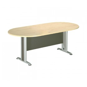 Οβαλ γραφείο συνεδρίου με μεταλλικά πόδια E-series Beech 180