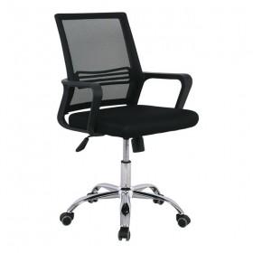 Καρέκλα γραφείου BF2101 με μεταλλικό πόδι Μαύρο