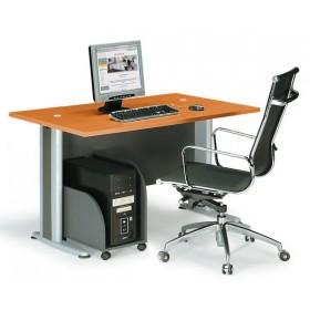 Επαγγελματικό γραφείο μελαμίνης με μεταλλικά πόδια E-series Cherry 120cm