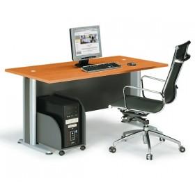 Επαγγελματικό γραφείο μελαμίνης με μεταλλικά πόδια E-series Cherry 150cm