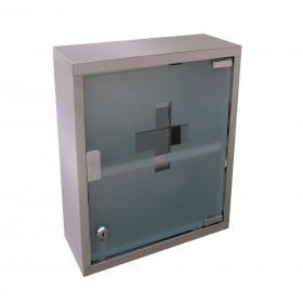 Μεταλλικό φαρμακείο Inox Ριχό 36x32x10cm