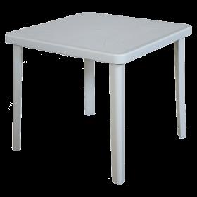 Πλαστικό Τραπέζι φαγητού Areta Nettuno 80x80cm Λευκό