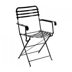 Μεταλλική καρέκλα με μπράτσα Ζαππείου