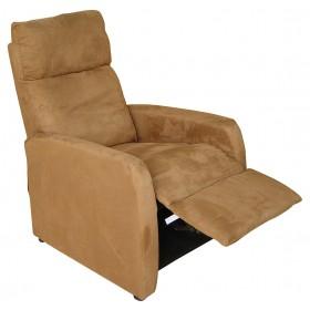 Πολυθρόνα Relax 1400 microfibre - Καφέ