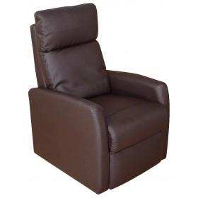 Πολυθρόνα Relax 1400 με τεχνόδερμα - Καφέ Σκούρο
