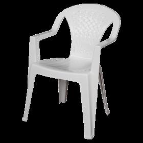 Στοιβαζόμενη πλαστική καρέκλα Areta Portofino Λευκή