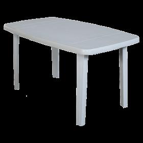 Πλαστικό Τραπέζι φαγητού Areta Sorrento 140x80cm Λευκό